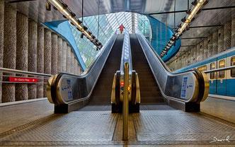 U-Bahnhaltestelle St. Qurin Platz München HDR