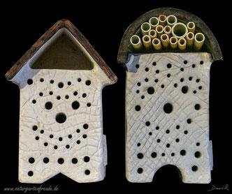 Insektennisthilfe Insektenhotel aus gebranntem Ton insect nesting aid insect hotel  wildbee terra cotta