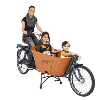 Babboe City-E Lasten e-Bike, Lastenfahrrad mit Elektromotor, e-Cargobike 2017