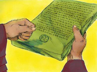 Un quatrième décret a été aussi promulgué en 458 av J-C par Artaxerxès 1er mais il ne concerne pas la reconstruction de Jérusalem et de son Temple. Il a permis, sous l'impulsion d'Esdras, de rétablir le culte et l'application de la Loi de Jéhovah.