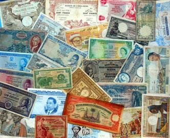 Miscelánea de billetes de África