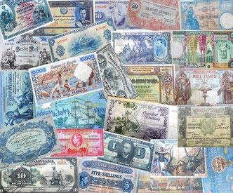 Miscelánea de billetes Mundiales