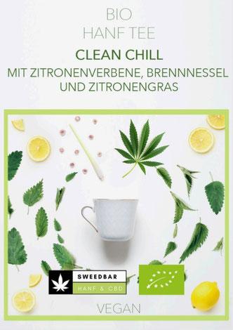 Sweedbar Bio Hanf Tee Zitronenverbene, Brennnessel und Zitronengras Melisse Lemon Myrtle Entgiftungstee