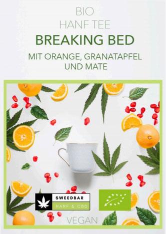 Sweedbar Bio Hanf Tee Orange Mate Granatapfel Enrgietee