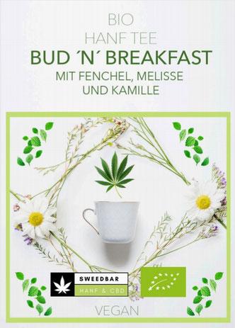 Sweedbar Bio Hanf Tee Fenchel Melisse Kamille Kräutertee