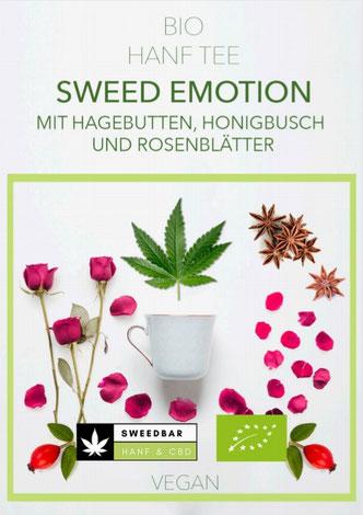 Sweedbar Bio Hanf Tee Hagebutten Honigbusch Rosenblätter Liebestee