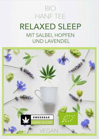 Sweedbar Relaxed Sleep Bio Hanf Tee Salbei Hopfen Lavendel Schlaftee