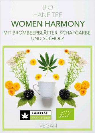 Sweedbar Women Harmony Bio Hanf Tee Brombeer Schafgarbe Süßholz Ringelblume Frauentee