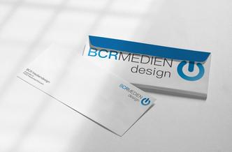 Büroartikel Logo BCR Medien Briefumschläge Design