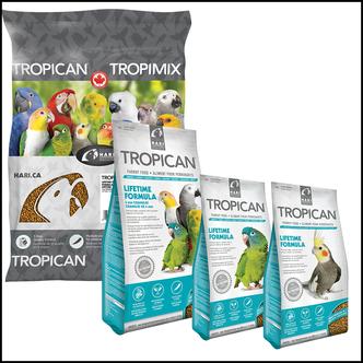 TROPICAN Lifetime Formula Pellets für Sittiche, kleine und große Papageien in der Gesellschaftshaltung