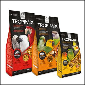 HARI TROPIMIX für Sittiche, kleine und große Papageien 1,8kg/9,07kg