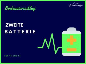 Einbau2. Batterie in VWT5