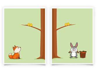Fuchs und Hase Set 1