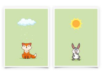 Fuchs und Hase Set 2