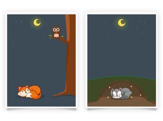 Fuchs und Hase Set 3