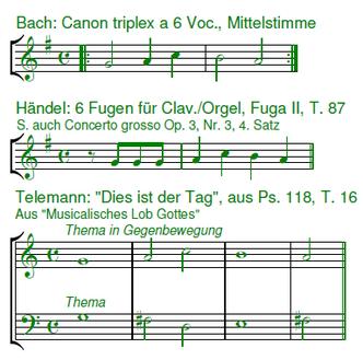 Telemann Bach Händel Canon triplex a 6 Voc.
