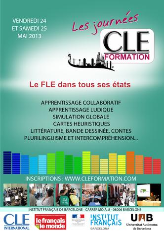 Affiche des Journées CLE Formation à Barcelone - 2013