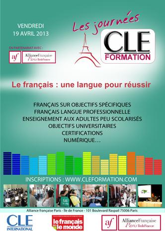 Affiche des Journées CLE Formation à Paris - 2013