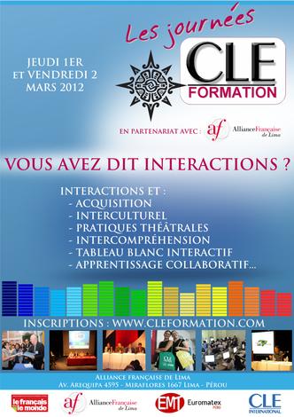 Affiche des Journées CLE Formation à Lima - 2012