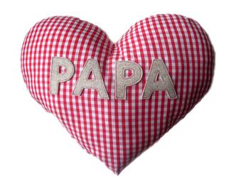 Herzkissen für Papa und Kinder, faire Mode, Herzkind, Berlin