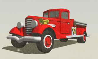 Diamond T Fire Engine N-Scale