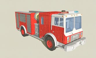 Mack Fire Engine N-Scale