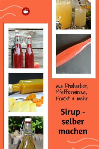 Rezepte für #Sirup #Rosensirup, #Pfefferminzsirup, #Fruchtsirup, #orgaBine #Karamellsirup, #cola