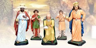 statue re magi ed altri personaggi per presepe vendita