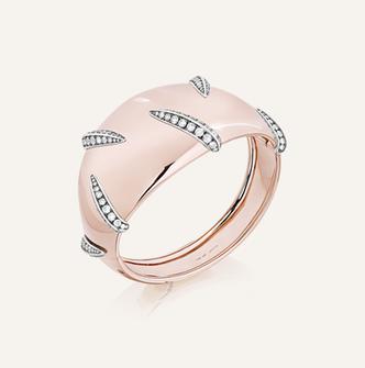 """Bracelet """"Tigre"""" aus Rosé- und Weissgold mit Brillanten"""