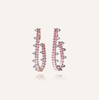 Ohrringe mit rosa Saphiren
