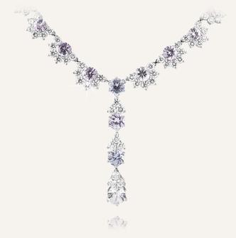 "High Jewelry Collier ""Pastell"" - 100% Swiss handmade"