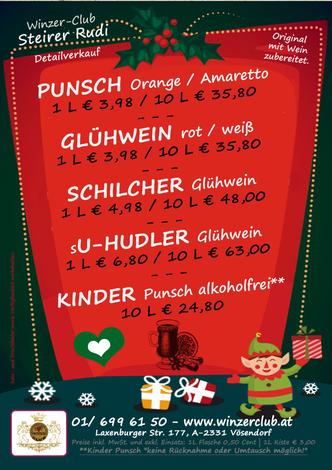 Punsch. Punsch vom Wein, Österreichisches Erzeugnis, Wien, Vösendorf, schnelle Zustellung, top Ware, Weihnachtsmarkt, Glühwein, Schilcher Glühwein, Punsch, Kinderpunsch