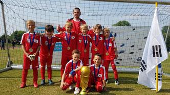 Auch als Südkorea erfolgreich: Unsere F-Junioren