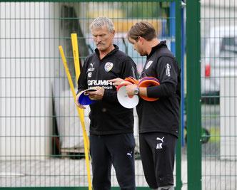 Coach Alex Kunert und Mannschaftsleiter Malte Banko
