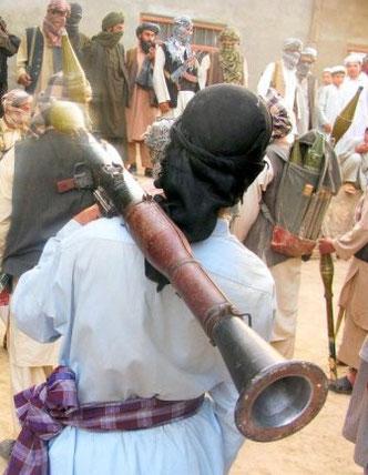 Taleban med modern bazooka