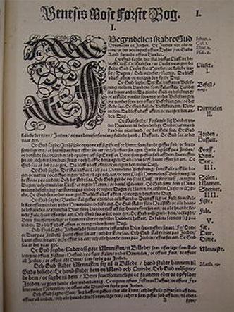 Første Mosebog (en ældre dansk oversættelse af Bibelen)