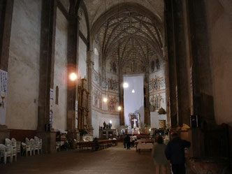 Vista interna del ex convento de Acolman