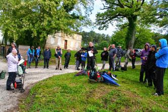 Xavier J. en plein meeting à Lagorce