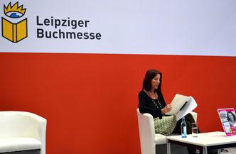 Leipziger Buchmesse 2019, Leipzig liest, Brit Gloss, Lesung Kurzgeschichten und Kolumnen, Forum Literatur