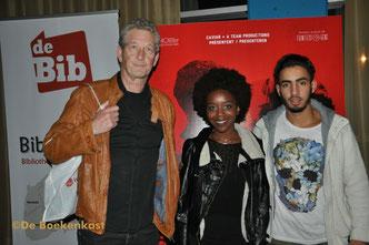 Dirk Bracke, Martha Canga Antonio en Aboubakr Bensahi
