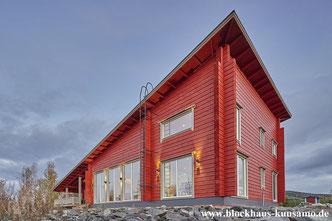 Blockhaus - Massivholzhaus - Architektenhaus in Rot  - Blockhausbau