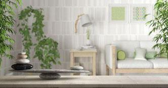 Feng-Shui schaft viel Harmonie und Ruhe  - FengShui - Gesundheit - Einrichten - Metall - Holz- Wohnen - Wohnhaus - Skandinavisches Wohnzimmer,  Zen-Design-Architektur