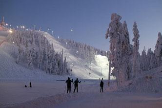 Wintersportgebiet Ruka - Urlaub - Winterurlaub im Blockhaus - Blockhäuser aus Finnland