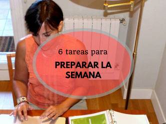 Preparate los domingo para la semana que comienza - AorganiZarte