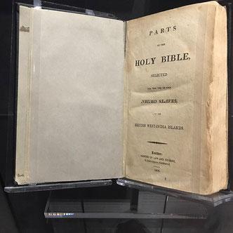 La Sacra Bibbia per gli schiavi negri