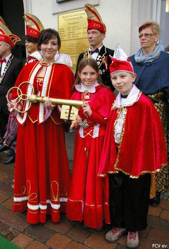 Prinzessin Mandy mit unserem Kinderprinzenpaar, Prinzessin Stefanie und Prinz William