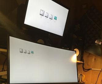 Sopra GT120 e sotto GTX980 schermata d'avvio.