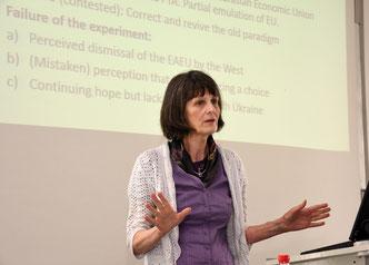 Guest lecturer Prof. Joan DeBardeleben (Foto: Claus Völker)