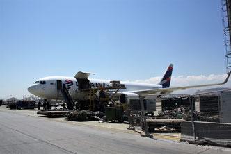 Latam Cargo Boeing 767F at Santiago Airport  -  picture: hs