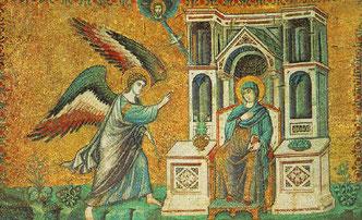 Verkündigung, 13 Jhd. Santa Maria in Trastevere